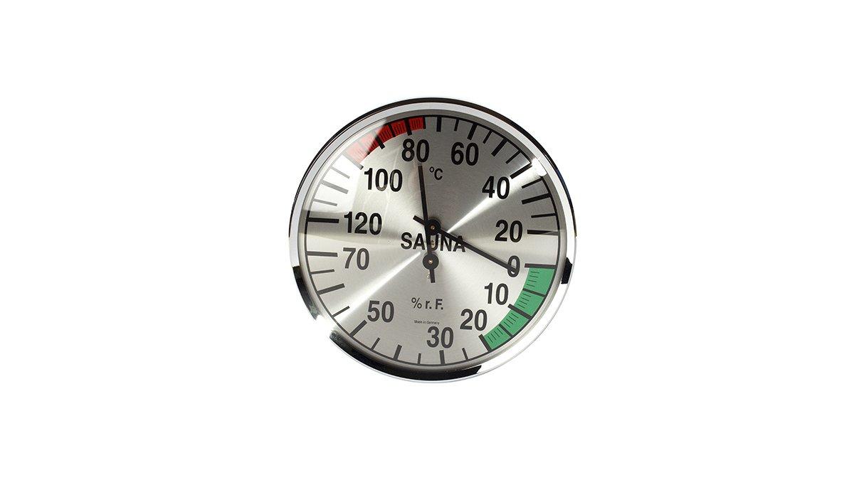 Termómetro / Higrómetro redondo